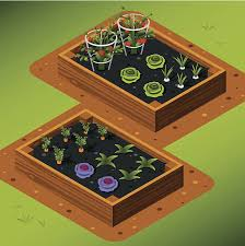 royalty free vegetable garden box clip art vector images