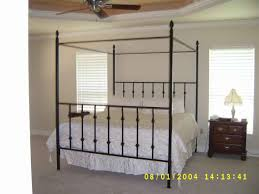 Iron Rod Bed Frame Bed Frames Iron Canopy Frame With Gold Bedding Set Decor