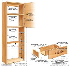 Kitchen Pantry Cabinet Plans HBE Kitchen - Kitchen pantry cabinet plans