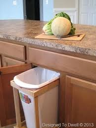 under sink trash pull out under the counter garbage cans small under sink pull out trash can