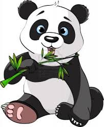 color drawing to print animals panda number 216291 clipart