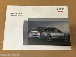 audi a6 owners manual audi a6 c6 04 11 avant owners manual handbook guide brochure ebay