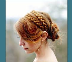 braid hairband wide strand hair braided headband bridal braid plait