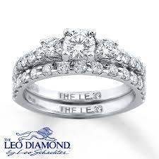kay jewelers credit card kay leo diamond bridal set 1 ct tw round cut 14k white gold