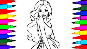 barbie fashionistas coloring pages l coloring drawing videos for