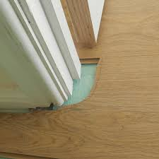 How To Cut Door Jambs For Laminate Flooring Watch Video Of Sliding A Budget Laminate In Place