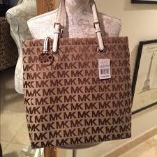 light brown mk purse michael kors bags large sinature tote new poshmark