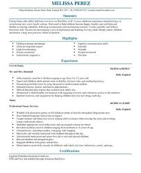 cool ideas nanny resume examples 9 nanny cv example for personal