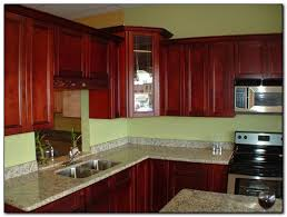 wall colors with cherry wood kitchen cabinets kitchen