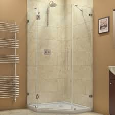 Cost Of Frameless Shower Doors by Dreamline Prism Lux 36 5 16 In X 72 In Frameless Neo Angle