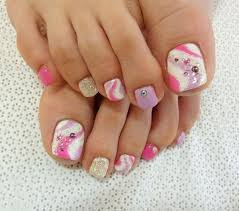 23 cute easy toenail designs for summer toenail art designs
