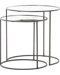glass cylinder table l deals on theory iron and glass cylinder side tables 2 piece set