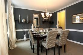 dining room gray accent wall ideas with white fabric dining room