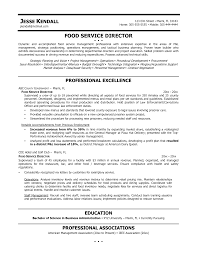 Sample Senior Management Resume Food Service Manager Resume Sample Resume For Your Job Application