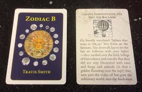 zodiac cards launch party for travis smith s chapbook in cards zodiac b