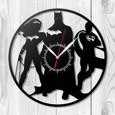 Batman Home Decor Batman Clock Wooden Clock Hdf Clock Acrylic Clock Housewarming