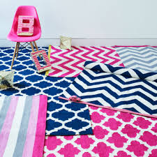 tribeca chevron rug cream and navy with coral edge rugs soft