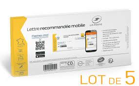 mon bureau de poste fr prêt à poster lettre recommandée mobile 20g lot de 5 boutique