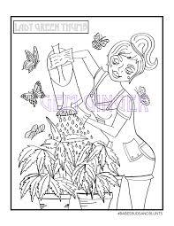 buds u0026 blunts a calming cannabis coloring book gem ginger
