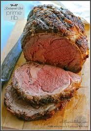 restaurant style prime rib thanksgiving