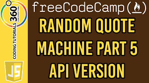 javascript quote html tags random quote machine part 5 api version free code camp basic