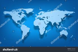 Vector World Map Vector World Map Illustration On Colorful Stock Vector 179355866