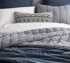 Black And White Tree Comforter Mini Stripe Comforter And Sham Pottery Barn