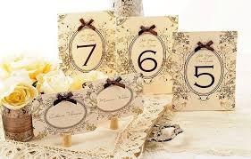 numero table mariage numéroter les tables de la réception