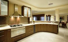 Open Kitchen Designs 2014 Kitchen Modern Open Kitchen Design Use Curve Brown White Modern
