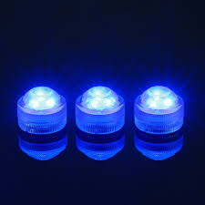 Waterproof Vase Lights 12x Aquarium Fish Tank Bar Waterproof Submersible 3 Led Tea Light