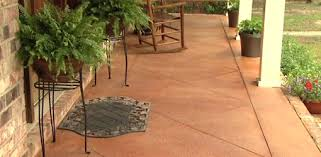 Dyed Concrete Patio by How To Score And Acid Stain A Concrete Slab Porch Or Patio