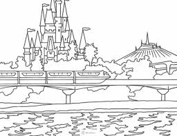 disneyland castle coloring pages 05 coloriages enfants