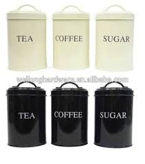 storage canisters for kitchen high quality black white metal coffee sugar tea storage