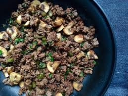 easy mushroom and ground beef skillet mom to mom nutrition