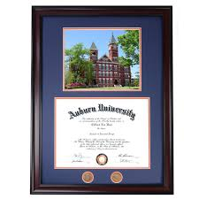 auburn diploma frame auburn diploma frame with samford photo in walnut or mahogany