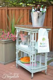 outdoor portable beverage bar cart the interior frugalista