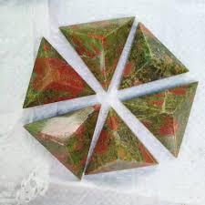 online shop 6 pieces natural quartz crystal pyramid point healing