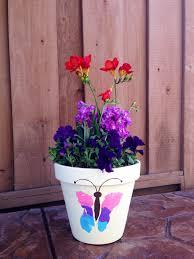 butterfly footprint flower pot diy pinterest butterfly