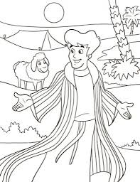 joseph and the coat of many colors coloring page with regard to