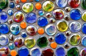 abstract digital multi colored glass balls stock photo