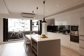 Modern Kitchen Island Stools - kitchen breakfast bar with glossy countertops also white metal
