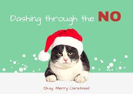 green grumpy cat christmas card templates by canva