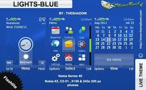 nokia 5130 menu themes lights blue theme for nokia 5130 c2 01 x2 00 and 240 x 320 px