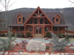 Log House Plans Log Home With Wrap Around Porch Plans