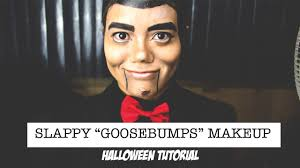 slappy goosebumps halloween makeup tutorial youtube