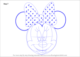 step step draw minnie mouse face mickey mouse