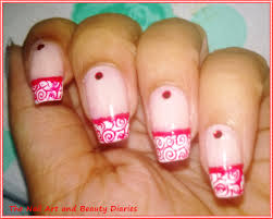elegant french red nail art the nail art and beauty diaries