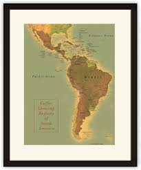 america map zoom map of south america coffee regions progeo maps guides
