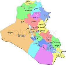 iraq map vector iraq map stock vector colourbox