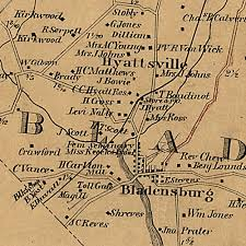 prince georges county map martenet s map of prince george s county maryland 1861